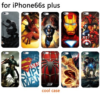 Marvel avengers kaptan amerika iron man hard case coverr fundas için iphone 6 6 s plus durumda spiderman deadpool davaları boyalı