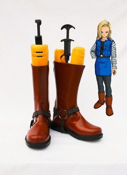 Custom made Dragon Ball Cosplay gelen Android 18 Ayakkabı çizme