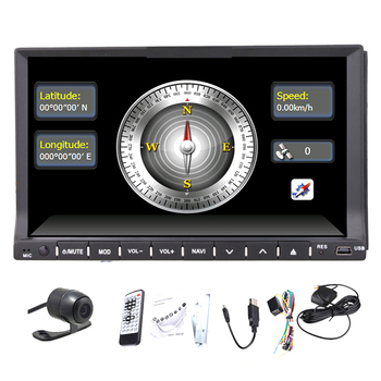 Arka Kamera + Çift 2 Din Araba Radyo stereo bluetooth Araç PC SES GPS Navigasyon DVD CD Video Player dokunmatik + USB/SD