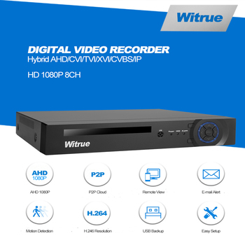 8CH AHD DVR HVR 8 * 1080P @ 12FPS P2P Xmeye Mini Hibrid HDMI DVR Destek IP/Analog/AHD Kamera