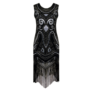 Kadın yeni moda 1920 s o boyun boncuklu pullu art deco gatsby sineklik dress great gatsby parti dress inspired